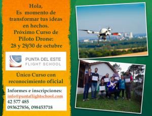 Próximo curso de Piloto Drone: 28 y 29 /30 de octubre de 2016